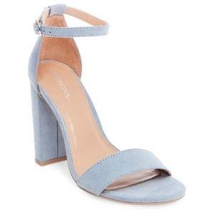 Merona Baby Blue Chunky Heels Sz 11